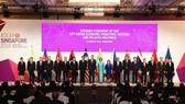 與會代表在第五十屆東盟(東協)經濟部長會議及系列會議開幕儀式上合照。(圖源:新華網)