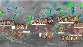 全球 9 股熱帶氣旋連成一線。(圖源:互聯網)