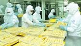 CJ 竹橋公司的春捲生產線。