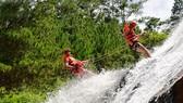 林同省暫停開發攀爬瀑布旅程。(圖源:VOV)
