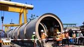 直徑達3.2米的排水管採用頂管技術來施工。(圖源:越通社)