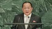 朝鮮外相李勇浩9月29日在聯合國大會一般性辯論上發言時表示,美國應採取增強互信的措施,否則朝方不會首先進行無核化。(圖源:互聯網)
