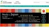 日本留學研討會將於本月6及7日分別在本市及河內舉辦。(圖源:網站截圖)