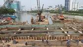 本市治水項目中的第一郡防淹閘工程一瞥。