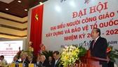 政府常務副總理張和平在越南天主教徒第七屆大會上致詞。(圖源:VOV)