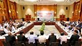 """""""越南農產品開源""""第三次國家農民論壇現場。(圖源:寶林)"""
