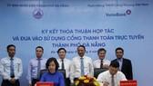 UBND TP Đà Nẵng và ViettinBank ký kết thỏa thuận hợp tác và đưa vào sử dụng Cổng thanh toán trực tuyến Đà Nẵng