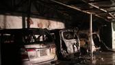 Cháy garage, nhiều ô tô bị thiêu rụi