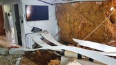 Sạt lở đất ở Đà Lạt gây sập tường nhà, cả gia đình thoát nạn