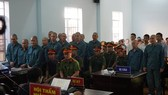 Các bị cáo tại phiên tòa