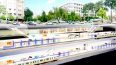 An artists' impression of the underground depot of metro line Ben Thanh -Long Binh (Photo: HCMC Urban Railway Management Board)
