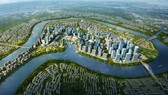 An artist's  impression of Thu Thiem New Urban Area in HCMC