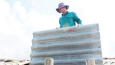 The price of construction materials has increased in Ha Tinh province after Typhoon Doksuri (Photo: SGGP)