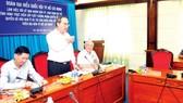 Secretary Nguyen Thien Nhan states at the meeting (Photo: SGGP)