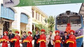 The launching ceremony of Hai Phong -Kaiyuan rail freight transport route