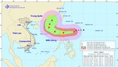 Direction of typhoon Yutu on October 29 (Photo: national weather bureau)