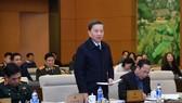 Bộ trưởng  Bộ Công an Tô Lâm phát biểu tại phiên họp