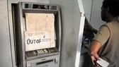 Một máy ATM của Ngân hàng Nhà nước ở thành phố Gurgaon, bang Haryana ngưng hoạt động