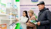 Sản phẩm sữa Việt Nam đang được bày bán tại thị trường Nga