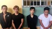 Từ trái qua phải Nguyễn Văn Đương, Đỗ Văn Mích, Võ Phúc Duy, Diệp Quốc Huy