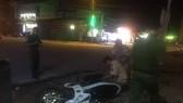 Điều tra vụ xe ben tông xe của cảnh sát giao thông rồi bỏ chạy