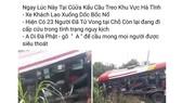 Thực hư thông tin vụ tai nạn xe khách xảy ra ở cửa khẩu Quốc tế Cầu Treo