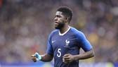 Umtiti từ chối nói về chuyện hợp đồng với Barca. Ảnh: Getty Images