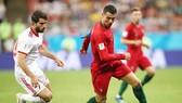 Ronaldo gặp vận đen trong trận đấu với Iran. Ảnh: Getty Images