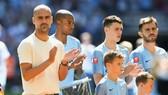 HLV Pep Guardiola đầy tự tin Man.City có thể duy trì sự xuất sắc như mùa qua. Ảnh: Getty Images