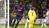 Dembele ghi bàn duy nhất cho Barca. Ảnh: Getty Images