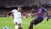 Dembele đang có khởi đầu thuận lợi cùng Barca. Ảnh Getty Images