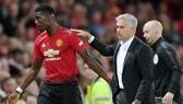 Mối quan hệ Paul Pogba và HLV Jose Mourinho đã thật sự đổ vỡ. Ảnh: Getty Images