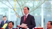 Chủ tịch nước Trần Đại Quang  phát biểu tại ngày hội. Ảnh: TOQUOC.VN