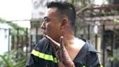 Chiến sĩ Trần Tuấn Thanh bị thương khi nỗ lực chữa cháy, cứu người tại chung cư Carina Plaza
