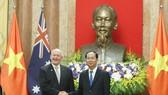 Chủ tịch nước Trần Đại Quang và Toàn quyền Australia Peter Cosgrove tại cuộc hội đàm. Ảnh: VGP