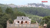 Biệt thự xây dựng trên khu vực đất lâm nghiệp có hướng nhìn về trung tâm TP Đà Lạt. Ảnh: ĐOÀN KIÊN
