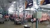 Khu nhà lồng mát kinh doanh thịt heo tại chợ đầu mối NSTP Bình Điền