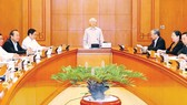 Tổng Bí thư, Chủ tịch nước Nguyễn Phú Trọng phát biểu chỉ đạo cuộc họp             Ảnh: TTXVN