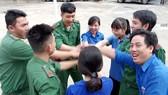 Chiến sĩ, đảng viên trẻ thuộc lực lượng biên phòng TPHCM sôi nổi tham gia phong trào