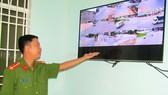 Phòng theo dõi hình ảnh từ camera luôn có cán bộ trực  để phát hiện và xử lý tình huống