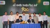 Quang cảnh lễ công bố dự án Khu thương mại dịch vụ Tân Uyên Business Center