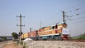 Chuyến tàu hàng đầu tiên nối Anh và Trung Quốc về đến ga Nghĩa Ô, tỉnh Chiết Giang ngày 29/4. (Nguồn: THX/TTXVN