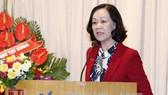 Tân Chủ tịch Hội Hữu nghị Việt Nam - Cuba Trương Thị Mai phát biểu nhậm chức. Ảnh: Văn Điệp/TTXVN