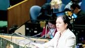 Đại sứ Nguyễn Phương Nga, Trưởng Phái đoàn thường trực Việt Nam tại Liên hiệp quốc, phát biểu tại Hội nghị về UNCLOS