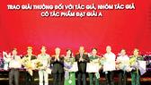 Trao 164 giải thưởng sáng tác quảng bá tác phẩm VHNT, báo chí