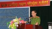 Thứ trưởng Lê Quý Vương phát biểu tại Hội nghị. Ảnh: bocongan