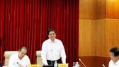 Trưởng Ban Tổ chức Trung ương Phạm Minh Chính phát biểu tại Hội nghị