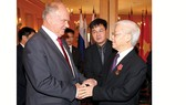 Tổng Bí thư Nguyễn Phú Trọng tiếp Chủ tịch Đảng Cộng sản Liên bang Nga Gennady Zyuganov.