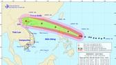 Dự báo đường đi của  bão Mangkhut
