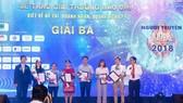 """Báo Sài Gòn Đầu tư Tài chính (ấn phẩm thuộc Báo SGGP) đoạt giải ba với tác phẩm """"Ấn tượng doanh nhân Nguyễn Đình Trung"""" của tác giả Minh Tuấn."""
